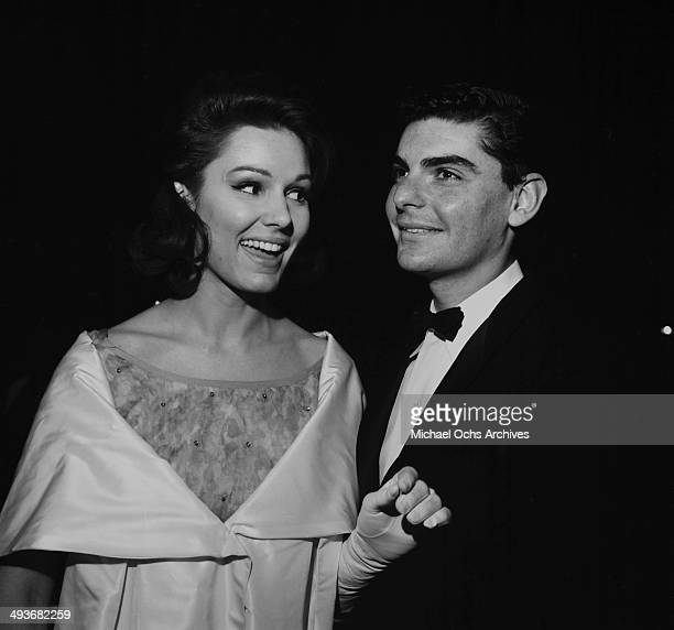 Actor Richard Benjamin with his wife Paula Prentiss attend a party in Los Angeles California