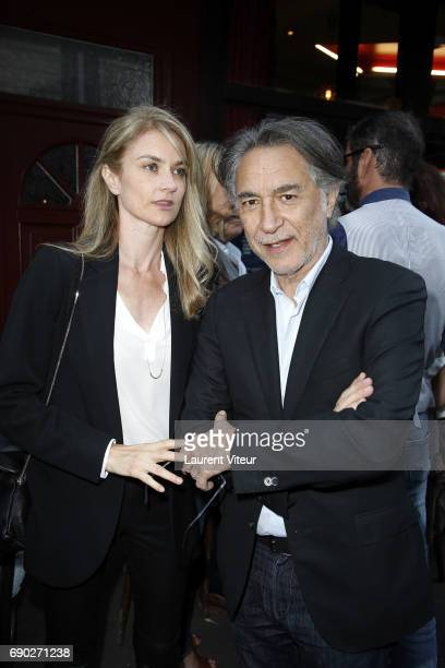 Actor Richard Berry and his wife Pascale Louange attend Ca Coule de Source Theater Play at Theatre de la Gaite Montparnasse on May 30 2017 in Paris...