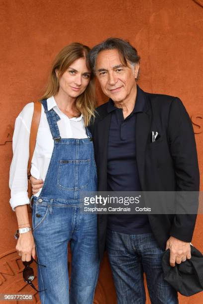Actor Richard Berry and his wife Pascale Louange attend the 2018 French Open Day Thirteen at Roland Garros on June 8 2018 in Paris France