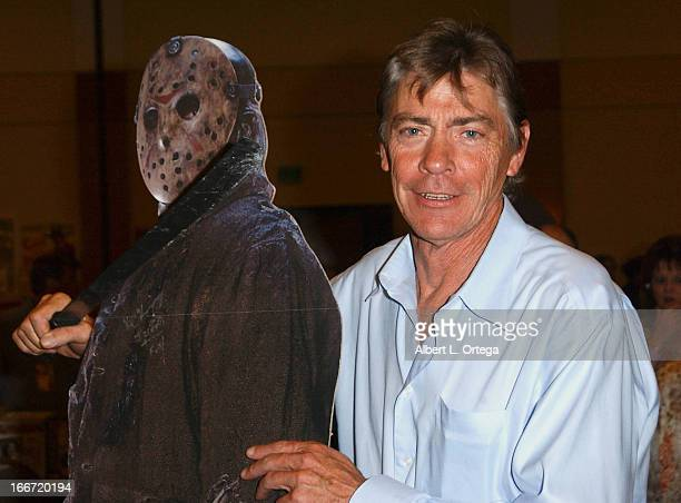 Actor Richard Brooker who played Jason Voorhees in Friday The 13th Part 3 signa autographs at Day one of the Hollywood Show held at Burbank Airport...