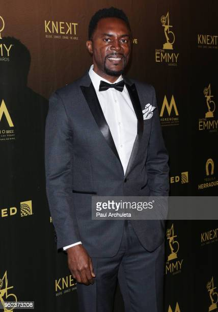 Actor Richard Brooks attends the press room at the 45th Annual Daytime Creative Arts Emmy Awards at the Pasadena Civic Auditorium on April 27 2018 in...