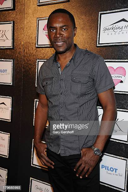 Actor Richard Brooks poses at the GBK Sparkling Resort Fashionable Lounge during MercedesBenz Fashion Week on September 6 2013 in New York City