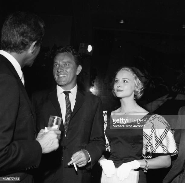 Actor Richard Burton with wife actress Sybil Williams attend a party in Los Angeles California
