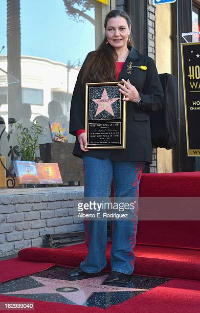 Actor Richard Burton's daughter Maria Burton attends a ceremony honoring Richard Burton with the 2,491st star on the Hollywood Walk of Fame on March...