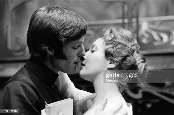 Actor Richard Chamberlain in the role of Hamlet at the Birmingham Repertory Theatre With him actress Gemma Jones in the role of Ophelia 14th March...