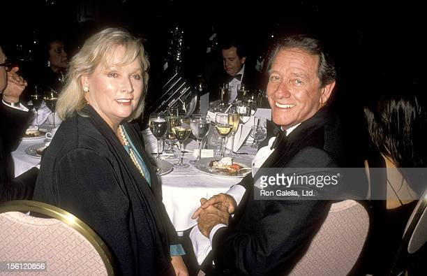 Actor Richard Crenna and wife Penni Sweeney attend American Film Insitute and Warner Bros Tribute on May 2 1990 at Loews Santa Monica Hotel in Santa...