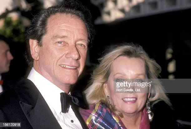 Actor Richard Crenna and wife Penni Sweeney attend the 12th Annual People's Choice Awards on March 11 1986 at Santa Monica Civic Auditorium in Santa...