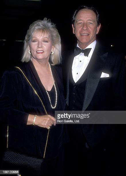 Actor Richard Crenna and wife Penni Sweeney attend the 47th Annual Golden Globe Awards on January 20 1990 at Beverly Hilton Hotel in Beverly Hills...