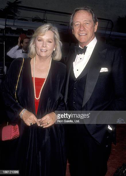 Actor Richard Crenna and wife Penni Sweeney attend the 'Celebration of Tradition' A Gala Event Gathering Warner Bros Stars on June 2 1990 at Warner...