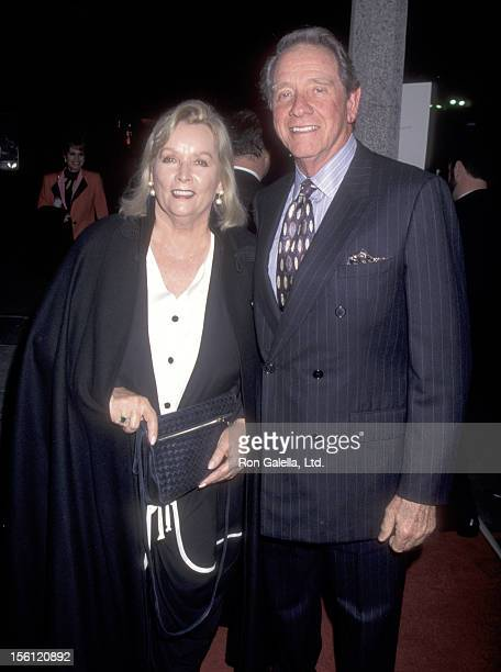 Actor Richard Crenna and wife Penni Sweeney attend the 'Sabrina' Westwood Premiere on December 8 1995 at Mann National Theatre in Westwood California