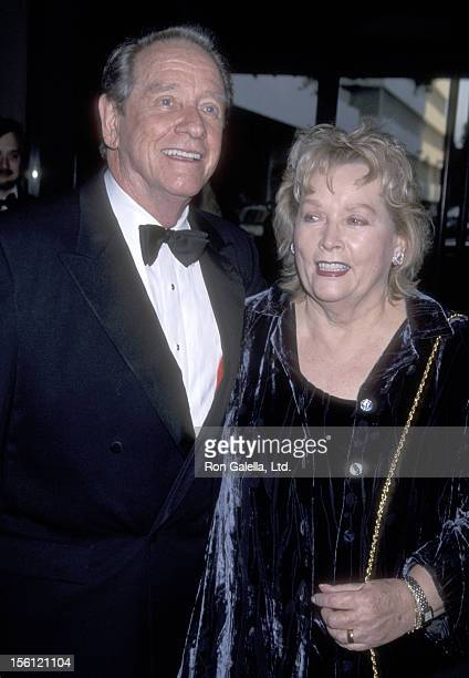 Actor Richard Crenna and wife Penni Sweeney attend The Society of Singers Presents the 10th Annual ELLA Award to Julie Andrews on April 25 2001 at...