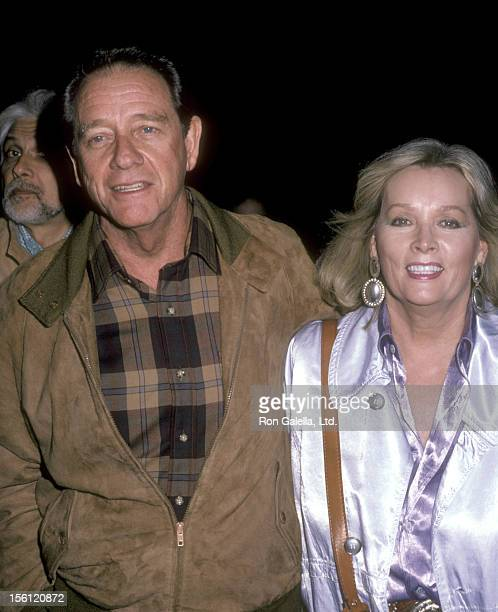 Actor Richard Crenna and wife Penni Sweeney on October 30 1985 sighting at Academy Theatre in Beverly Hills California