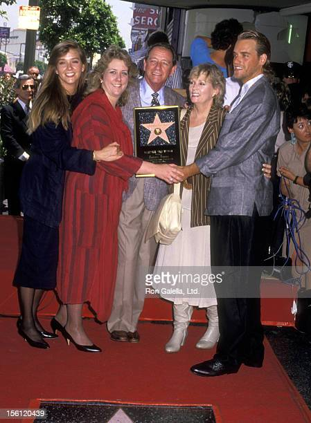 Actor Richard Crenna wife Penni Sweeney daughter Maria Crenna daughter Seana Crenna and son Richard Anthony Crenna attend the Hollywood Walk of Fame...