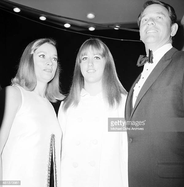 Actor Richard Crenna with wife Penni Sweeney and daughter Seana attend a party in Los AngelesCalifornia