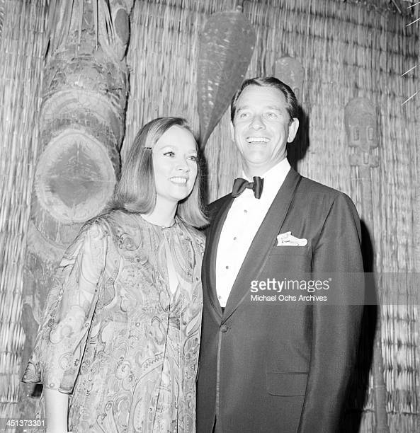 Actor Richard Crenna with wife Penni Sweeney attends a party in Los AngelesCalifornia