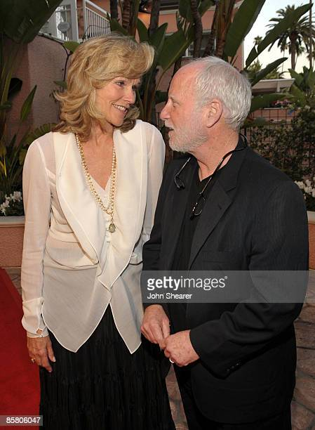 Actor Richard Dreyfuss and Brenda Siemer-Scheider arrive at Smiles from the Stars: A Tribute to the Life and Work of Roy Scheider at The Beverly...