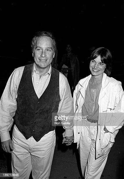 Actor Richard Dreyfuss and wife Jeramie Rain attend The National Committee for an Effective Congress on May 2 1984 at the Wilshire Ebell Theater in...