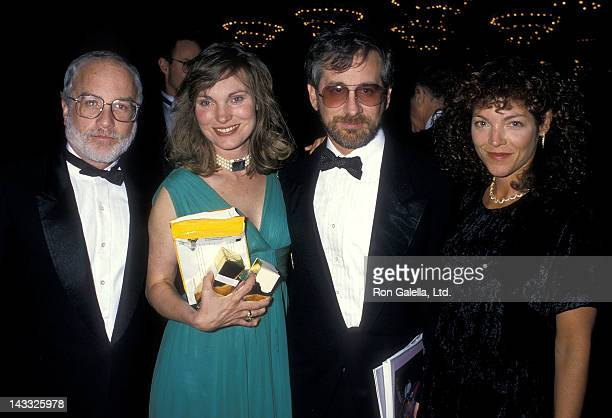 Actor Richard Dreyfuss and wife Jeramie Rain director Steven Spielberg and actress Amy Irving attend the Starlight Children's Foundation's Fourth...