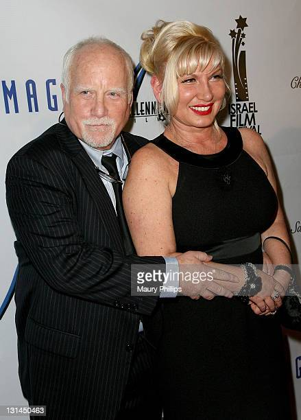 Actor Richard Dreyfuss and wife Svetiana arrive at The Israel Film Festival 25th Anniversary Gala Awards Dinner at The Beverly Hilton hotel on...