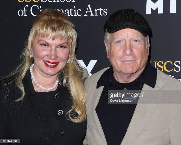 Actor Richard Dreyfuss and wife Svetlana Erokhin attend a screening of EPIX's Milius at the Eileen Norris Cinema Theatre on January 9 2014 in Los...