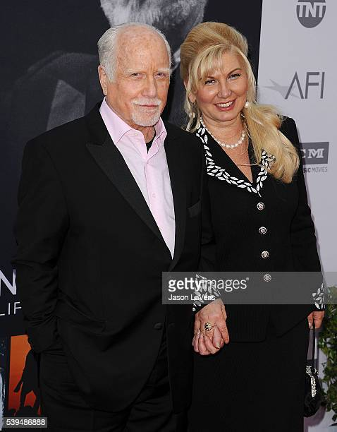 Actor Richard Dreyfuss and wife Svetlana Erokhin attend the 44th AFI Life Achievement Awards gala tribute at Dolby Theatre on June 9 2016 in...
