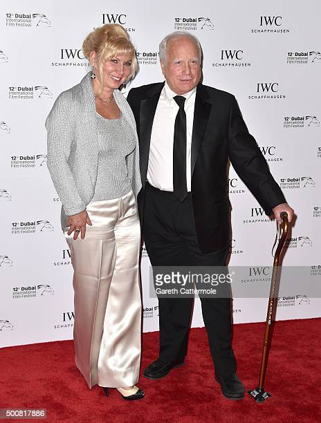 Actor Richard Dreyfuss with his wife Svetlana Erokhin attend the IWC Filmmakers Award during day two of the 12th annual Dubai International Film...