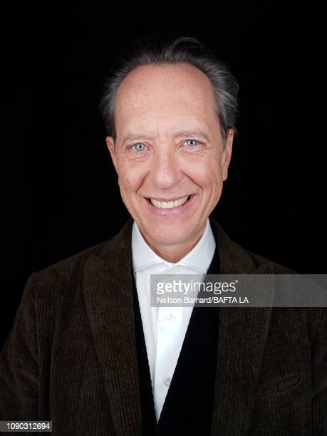 Actor Richard E Grant attends the portrait studio at Four Seasons Hotel Los Angeles at Beverly Hills on January 05 2019 in Los Angeles California