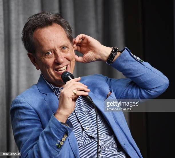 """Actor Richard E. Grant attends the SAG-AFTRA Foundation Conversations Screening of """"Can You Ever Forgive Me"""" at the SAG-AFTRA Foundation Screening..."""