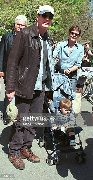 Actor Richard Gere actress Carey Lowell and their son Homer James Jigme Gere arrive for the Kids for Kids Carnival hosted by The Elizabeth Glaser...