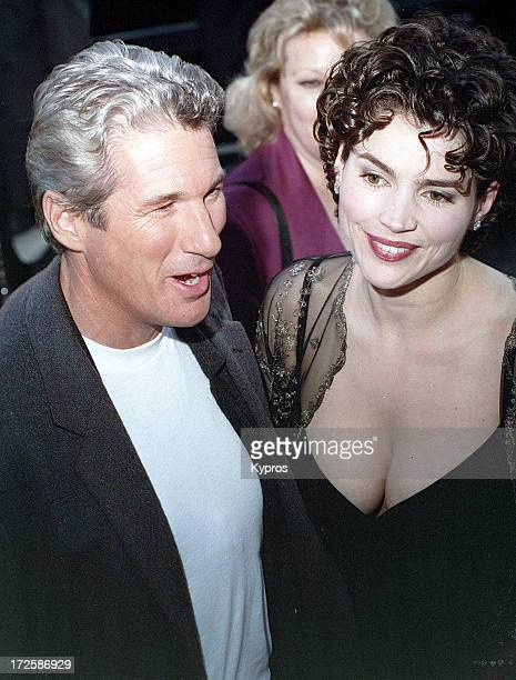 Actor Richard Gere and actress Julia Ormond attend the 'First Knight' Beverly Hills premiere on June 19 1995 at the Academy Theatre in Beverly Hills...