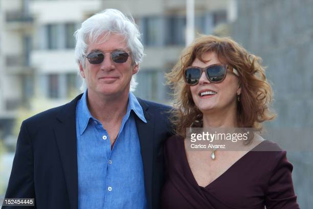 Actor Richard Gere and actress Susan Sarandon attend 'Arbitrage' photocall at the Kursaal Palace during the 60th San Sebastian International Film...