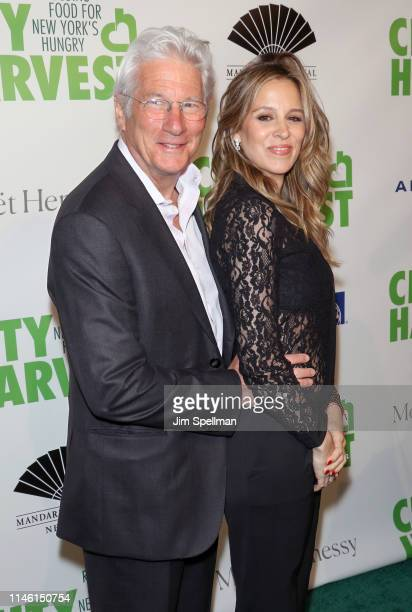 Actor Richard Gere and Alejandra Silva attend the 2019 City Harvest Gala at Cipriani 42nd Street on April 30 2019 in New York City