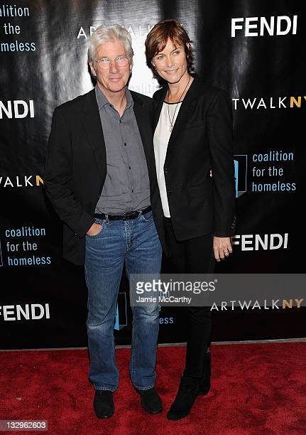 Actor Richard Gere and Carey Lowell attends the 17th annual ARTWALK NY at Skylight Studio on November 15 2011 in New York City