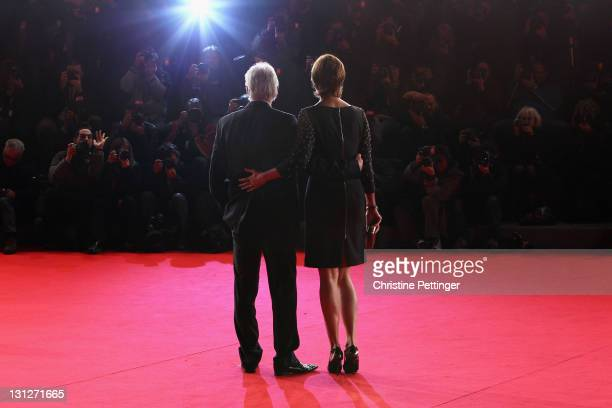 Actor Richard Gere and Carey Lowell on the red carpet during the 6th International Rome Film Festival on November 3 2011 in Rome Italy