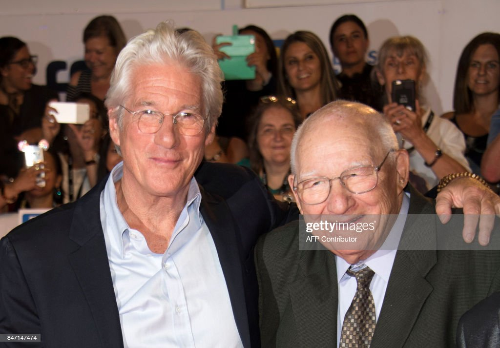 Actor Richard Gere (L) and father Homer George Gere attend the premiere of 'Three Christs' during the 2017 Toronto International Film Festival September 14, 2017, in Toronto, Ontario. /