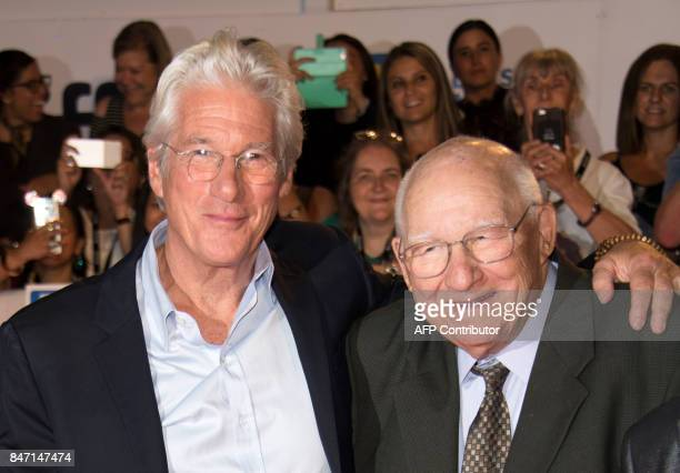 """Actor Richard Gere and father Homer George Gere attend the premiere of """"Three Christs"""" during the 2017 Toronto International Film Festival September..."""