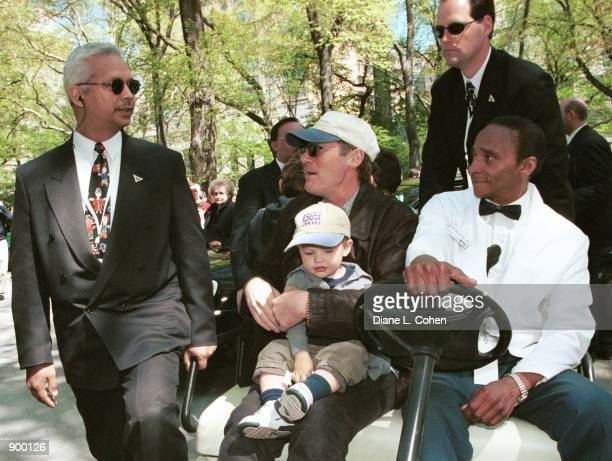 Actor Richard Gere and his son Homer James Jigme Gere arrive for the Kids for Kids Carnival hosted by The Elizabeth Glaser Pediatric AIDS Foundation...