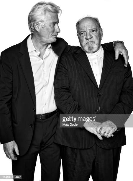 Actor Richard Gere and screenwriter Paul Schrader pose for a portrait at The National Board of Review Annual Awards Gala on January 8 2019 at...