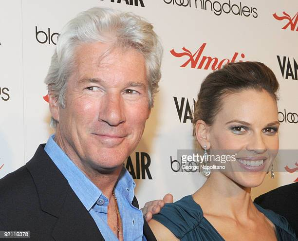 Actor Richard Gere and twotime Oscar winner Hilary Swank attend the premiere of 'Amelia' at The Paris Theatre on October 20 2009 in New York City