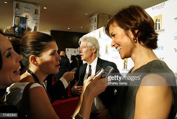 Actor Richard Gere and wife actress Carey Lowell arrive at the 11th Annual Hollywood Awards held at the Beverly Hilton Hotel on October 22 2007 in...