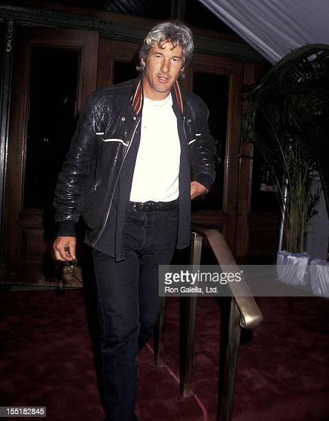 Actor Richard Gere attends the Cartier Launches the Tank Francaise Watch on May 8 1996 at the former B Altman and Company Store Fifth Avenue in New...