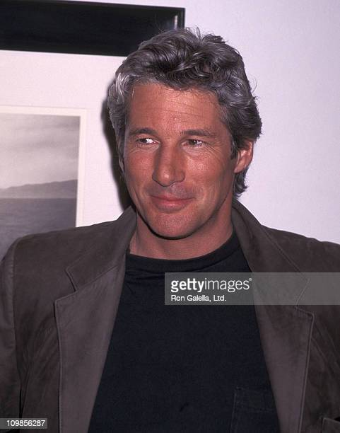 Actor Richard Gere attends the exhibtion of his photographs 'Zanskar and Tibet' on February 27 1996 at the Fahey/Klein Gallery in Los Angeles...