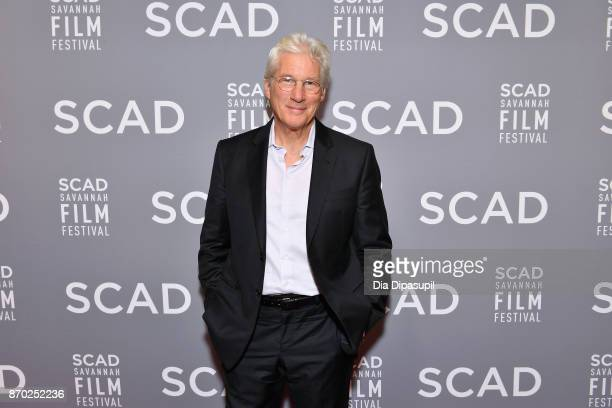 Actor Richard Gere attends the Lifetime Award presentation at Trustees Theater during the 20th Anniversary SCAD Savannah Film Festival on November 4...