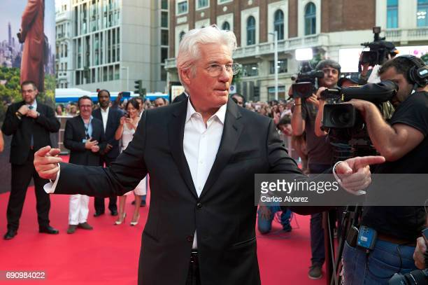 Actor Richard Gere attends the 'Norman: The Moderate Rise and Tragic Fall of a New York Fixer' premiere at the Callao cinema on May 31, 2017 in...