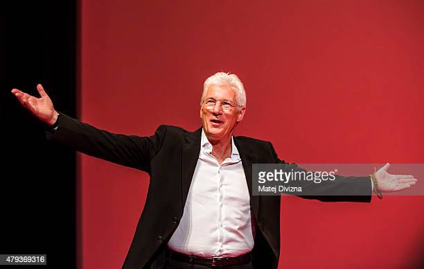 Actor Richard Gere attends the opening ceremony of the 50th Karlovy Vary International Film Festival on July 3 2015 in Karlovy Vary Czech Republic