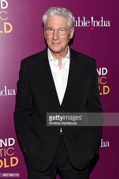 Actor Richard Gere attends 'The Second Best Exotic Marigold Hotel' New York Premiere at the Ziegfeld Theater on March 3 2015 in New York City