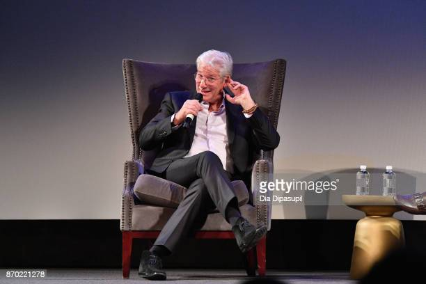 Actor Richard Gere speaks onstage at 'Norman' Q&A during the 20th Anniversary SCAD Savannah Film Festival on November 4, 2017 in Savannah, Georgia.