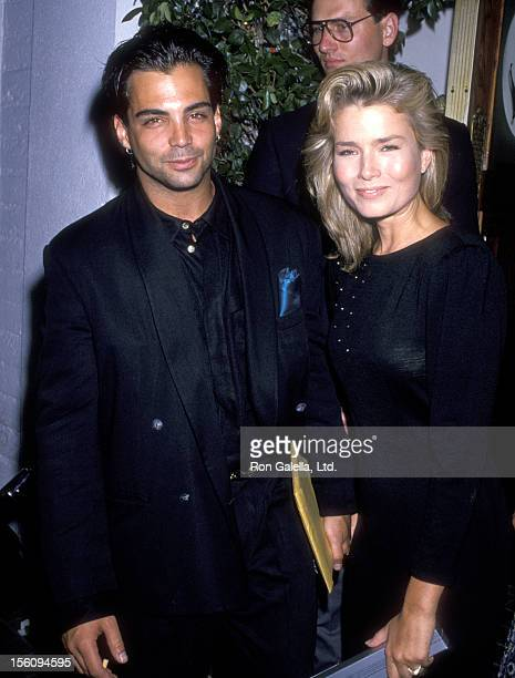Actor Richard Grieco and girlfriend Kimber Sissons attend a 'Private Party Hosted by Stephen J Cannell' on July 10 1989 at Chasen's Restaurant in...