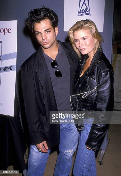 Actor Richard Grieco and girlfriend Kimber Sissons attend The City of Hope's Third Annual Halloween for Hope Benefit on October 28 1989 at 20th...