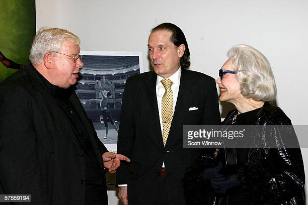 Actor Richard Griffiths John Kay Hill and Ann Slater arrive at the Bringing Balanchine Back gala screening hosted by Peter Martins at The Joan Weill...